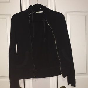 Tops - Black zip up sweatshirt